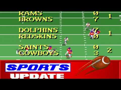 NFL Football (Week 12: Raiders - Broncos) (Distinctive Software) (MS-DOS) [1992] [PC Longplay]