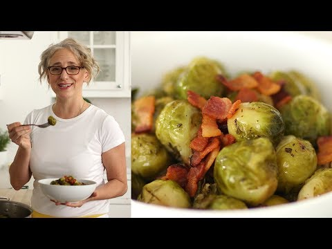 Brown-Sugar-and-Bacon-Glazed Brussels Sprouts- Everyday Food with Sarah Carey