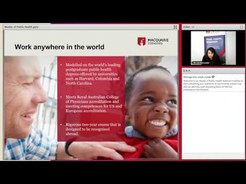 Master of Public Health Webinar