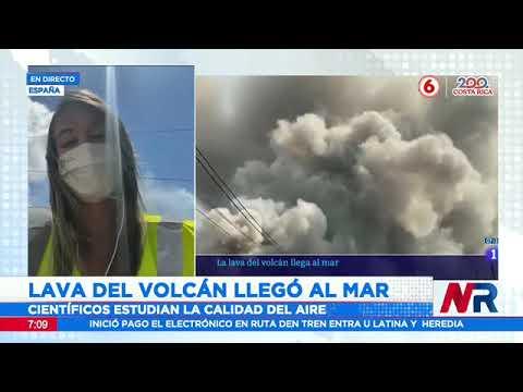 Lava del volcán La Palma llegó al mar