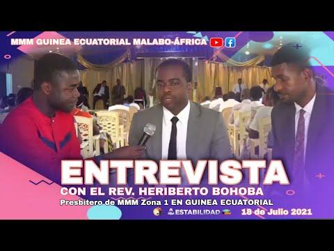 ENTREVISTA Con el Rev. Pastor Heriberto Bohoba   Presbitero de la MMM Zona 1