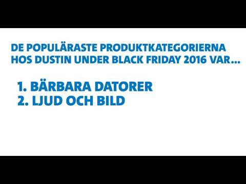 Inför Black Friday 2017 - Populära produkter