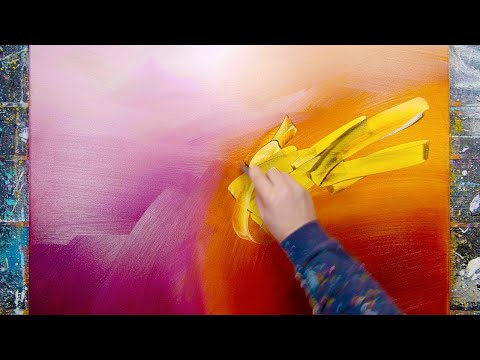 Do I have a plan for creating my paintings? | ABSTRACT PAINTING DEMO | Quoad