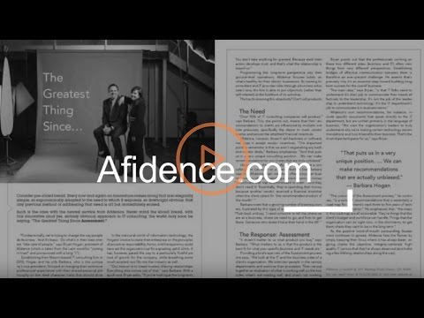 Afidence: Who We Are