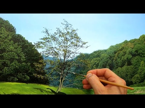 #95 Painting a Riverside Tree With Oil Paints