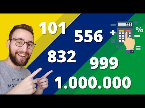 Os números de 100 a 1 milhão em português | Vou Aprender Português