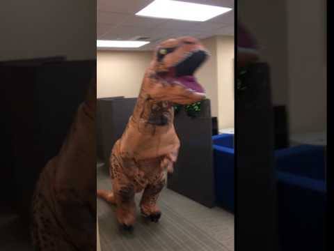 A T-Rex Meme Attacked Our Halloween Party!