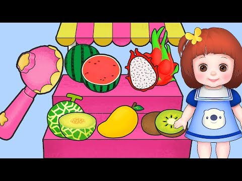 Baby Doli Fruit Ice cream scoop play and baby doll toys play