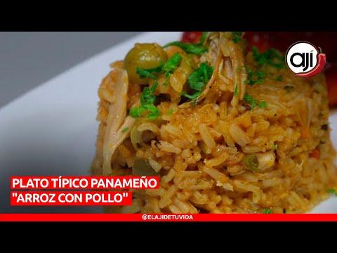 Plato típico panameño arroz con pollo | Ají