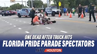 One dead after truck hits Florida Pride parade spectators