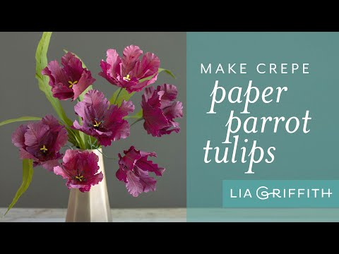 How To Make A Paper Tulip – Parrot Variety