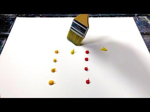 Peinture abstraite - Peinture au couteau à l'acrylique - Démonstration | Out