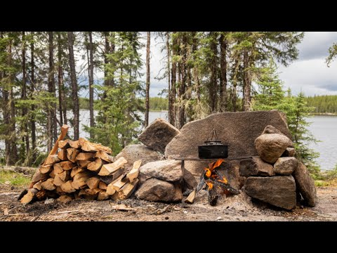 BECOMING WILD IN WABAKIMI - Solo, 12 Day Journey Part 4 - BLUE WALLEYE!  PCTOGRAPHS CARIBOU, STORMS!
