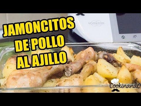 JAMONCITOS DE POLLO AL AJILLO THERMOMIX