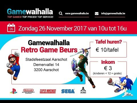 Evento Retro - Retro Game Beurs Gamewalhalla - 26/11/2017 - Aarschot
