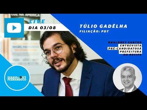 Rhaldney Santos entrevista o pré-candidato à prefeitura do Recife  Túlio Gadêlha