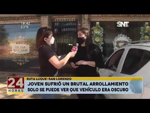 Ruta Luque- San Lorenzo: Joven sufrió un brutal arrollamiento