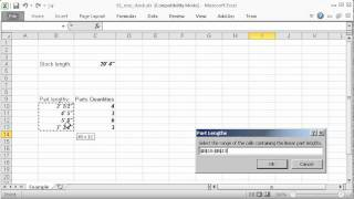 Cut Optimizer for Excel - YouTube