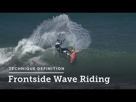 Frontside Wave Riding - Kitesurfing Technique Definition