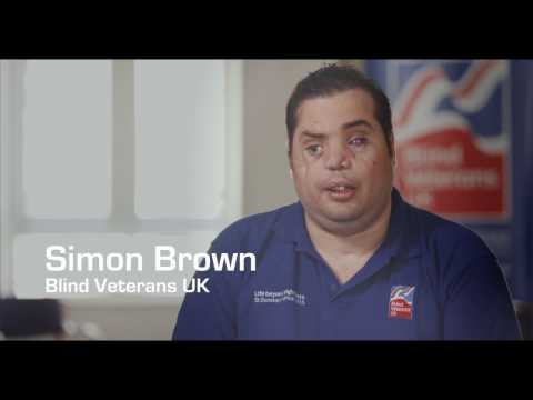 Blind veteran Simon Brown's story