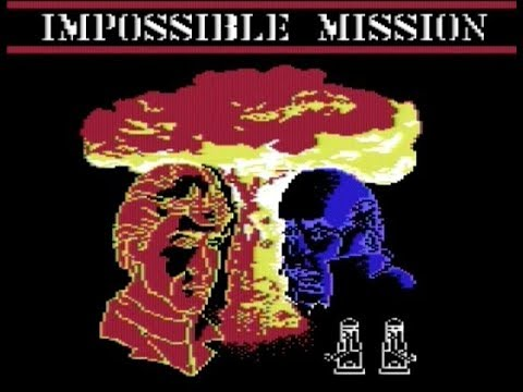 Jugando un par de horas al Impossible Mission (Misión Imposible) #Commodore manía videos