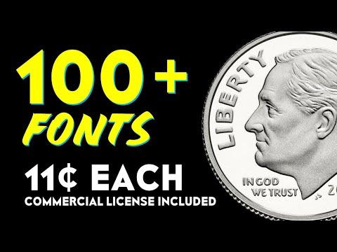 100+ FONT BUNDLE for $11.00 US – Commercial License Included!