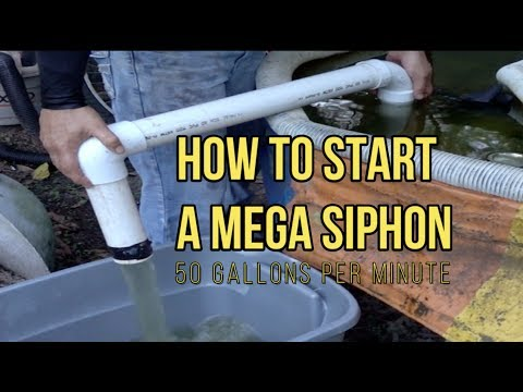 Mega Siphon 50 gallons per minute tube immersion