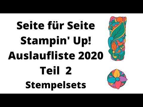 Stampin' Up! Auslaufliste 2020; komplette Übersicht Teil 2--Stempelsets