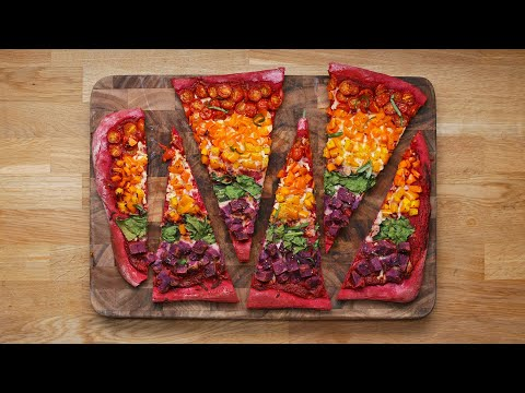 Rainbow Sheet-Pan Pizza