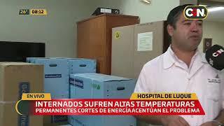 Pacientes reclaman por altas temperaturas en el Hospital de Luque