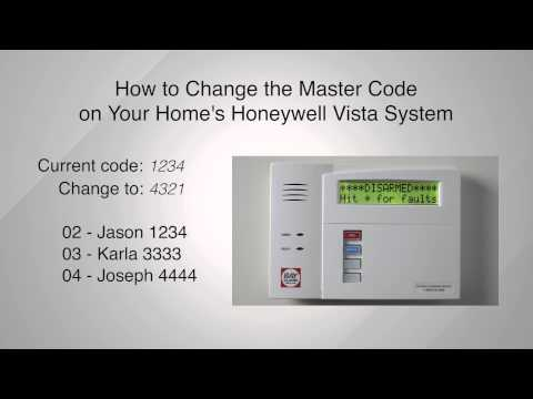 How to Change the Master Code on your Honeywell Master Vista System