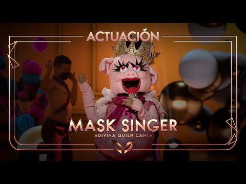 La Cerdita canta '1,2,3' de Sofía Reyes y Jason Derulo | Mask Singer: Adivina quién canta