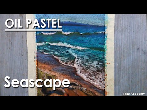 Oil Pastel Drawing : Seascape