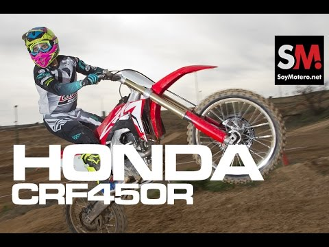 HONDA CRF450R 2017: Prueba Moto Motocross [FULLHD]