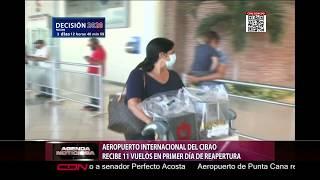 Aeropuerto Internacional del Cibao recibe 11 vuelos en primer día de reapertura