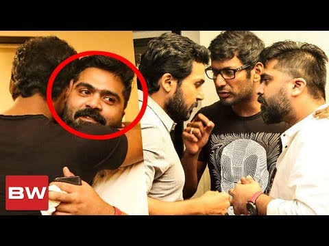 Vishal & STR Hug Each Other at Nadigar Sangam Meeting | Vijay Sethupathi