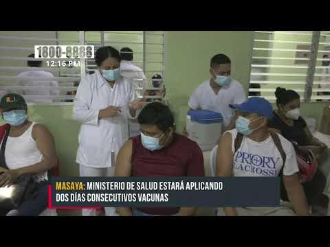 Pobladores de Masaya continúan llegando por la vacuna contra el COVID-19 - Nicaragua