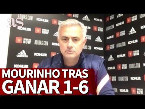 Mourinho analiza la contundente victoria ante el United por 1-6   Diario AS