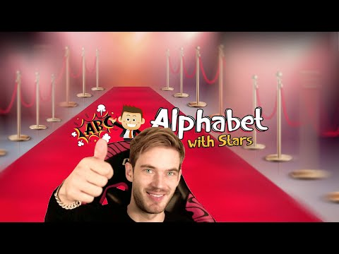 Video: ALPHABET WITH PEWDIEPIE | ALPHABET WITH STARS -