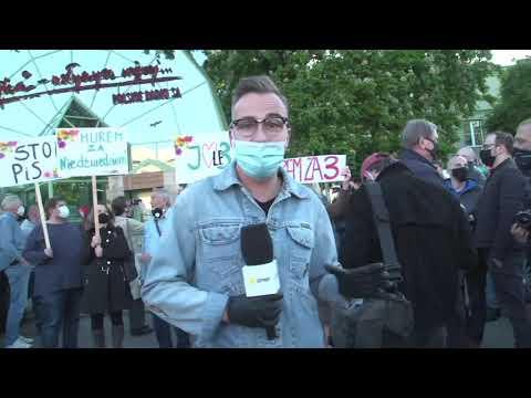 Protest przed siedzibą Trójki