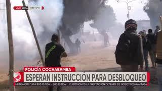 La Policía de Cochabamba espera instrucciones para desbloquear las carreteras