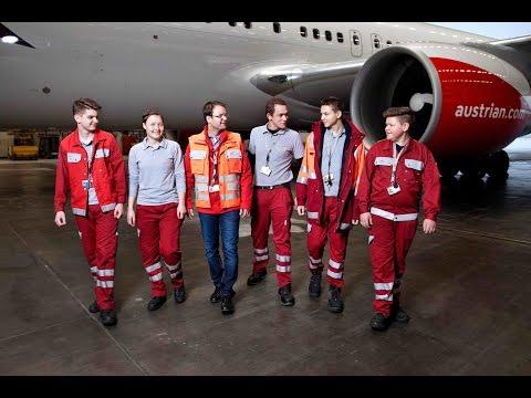 Lehrlinge bei Austrian Airlines