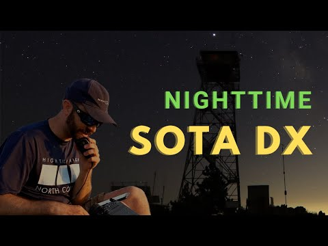 Nighttime SOTA DX and 40m Across the Country