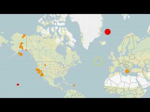 Shallow M6.8 Earthquake Strikes Off Greenland Coast, M5 Hits Western Australia