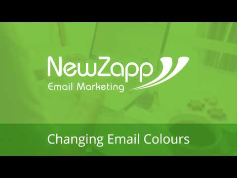 Changing Background Colours in your NewZapp Account