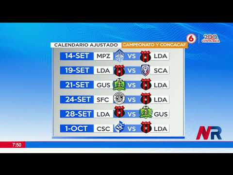 Calendario sin descanso para Alajuelense