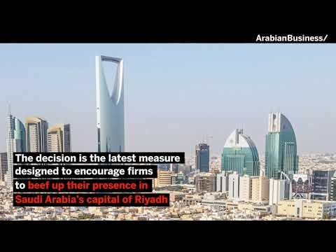 Saudi government and state-backed institutions will stop signing contracts with foreign companies