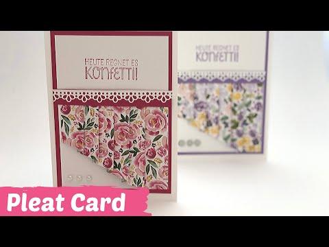 Pleat Card-Faltkarte mit Trick-Vorhang Karte--DIY