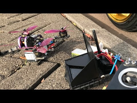One gate drone racing FPV session