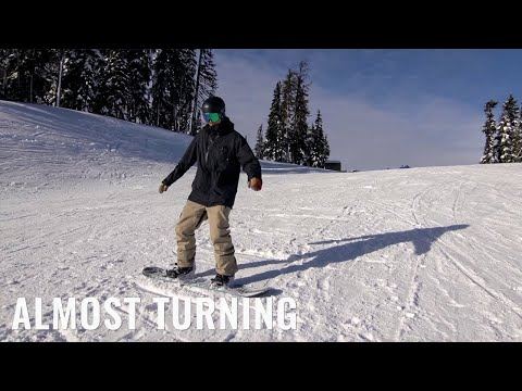 Almost Turning On A Snowboard
